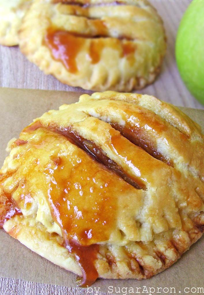 Individual Salted Caramel Apple Pies - an elegant twist on the classic apple pie