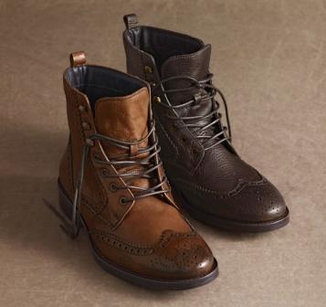 3a2183a43 Johnston & Murphy: HATTINGTON WINGTIP BOOT - Cognac Italian Burnished  Calfskin | Menswear | Boots, Fashion boots, Mens fashion:__cat__