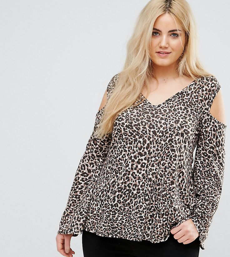 Get this Pink Clove's top off shoulder now! Click for more details. Worldwide shipping. Pink Clove Leopard Cold Shoulder Top with Flare Sleeves - Brown: Plus-size top by Pink Clove, Smooth soft-touch fabric, Animal print, V-neck, Cold-shoulder style, Flared sleeves, Regular fit - true to size, Machine wash, 96% Polyester, 4% Elastane, Our model wears a UK 18/EU 46/US 14 and is 175cm/5'9 tall. From their trend-led collections to their curve-flattering cuts, Pink Clove is a plus-size girl�s…