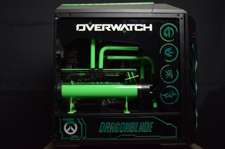 Overwatch inspired Case Mod is using a MasterCase Pro 5! This DIY tower Pc Mod is a great example of how liquid cooling gives it that final touch!