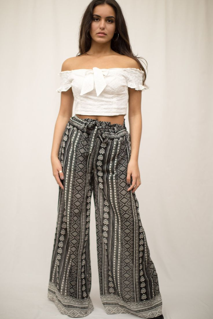 LUVMEMORE Black Aztec Print Shorts with Maxi Skirt Detail