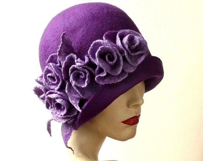 winter hat flapper hat Blue cloche 1920s hat warm hat chemo hat best gift crochet women/'s cloche yellow fabric flower pin
