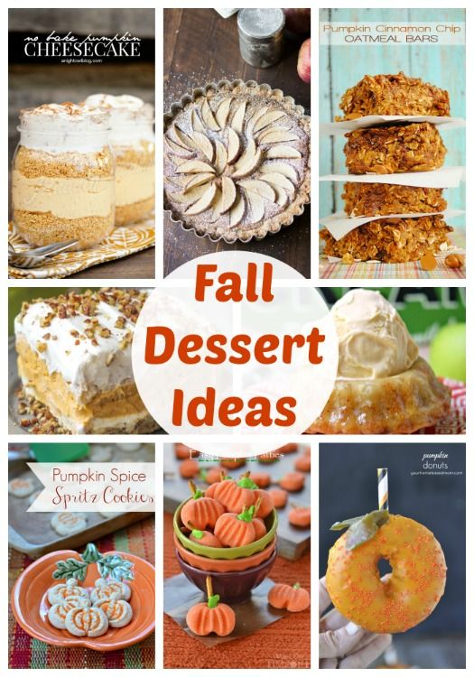20 Fall Dessert Ideas {Link Party Features} - I Heart Nap Time
