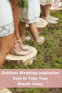 The outdoors are beautiful - they make for a the PERFECT wedding setting! Don't miss these creative outdoor wedding ideas!