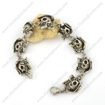 b003973 Item No. : b003973 Market Price : US$ 82.40 Sales Price : US$ 8.24 Category : Skull Bracelet