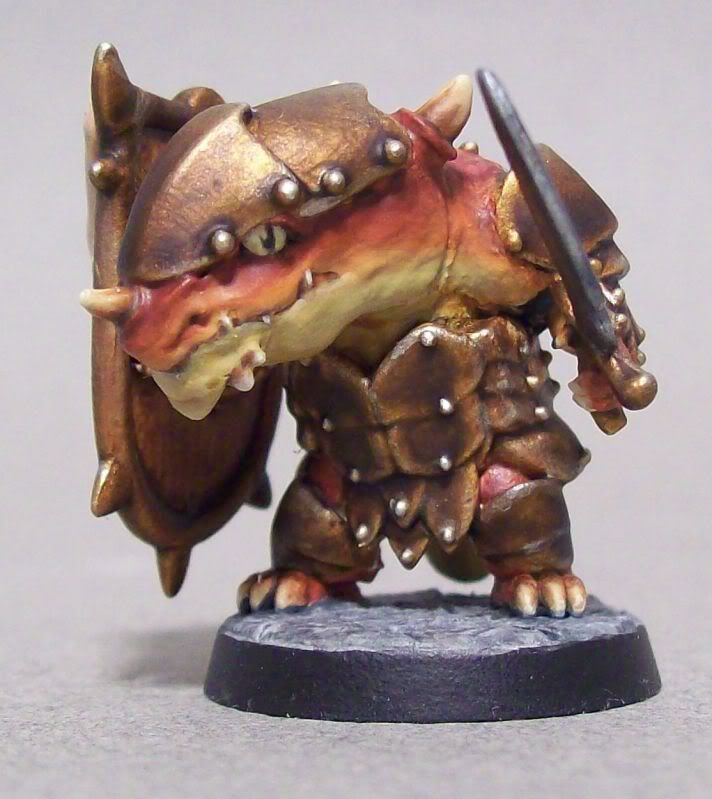 Well blended Super Dungeon Explore Kobold with a nice fade and NMM/Metallics armor