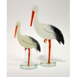 Fused Glass - Stork by Nobile Glassware. Available at www.artworx.co.uk