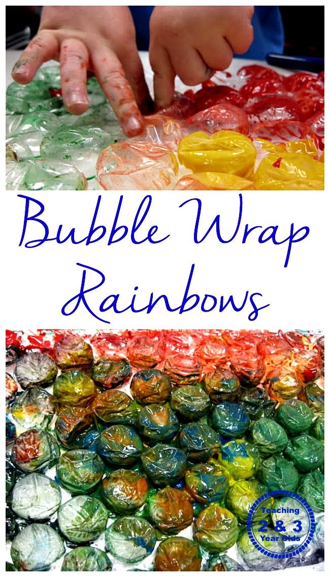 Bubble Wrap Rainbows  - fun for toddlers and preschoolers!