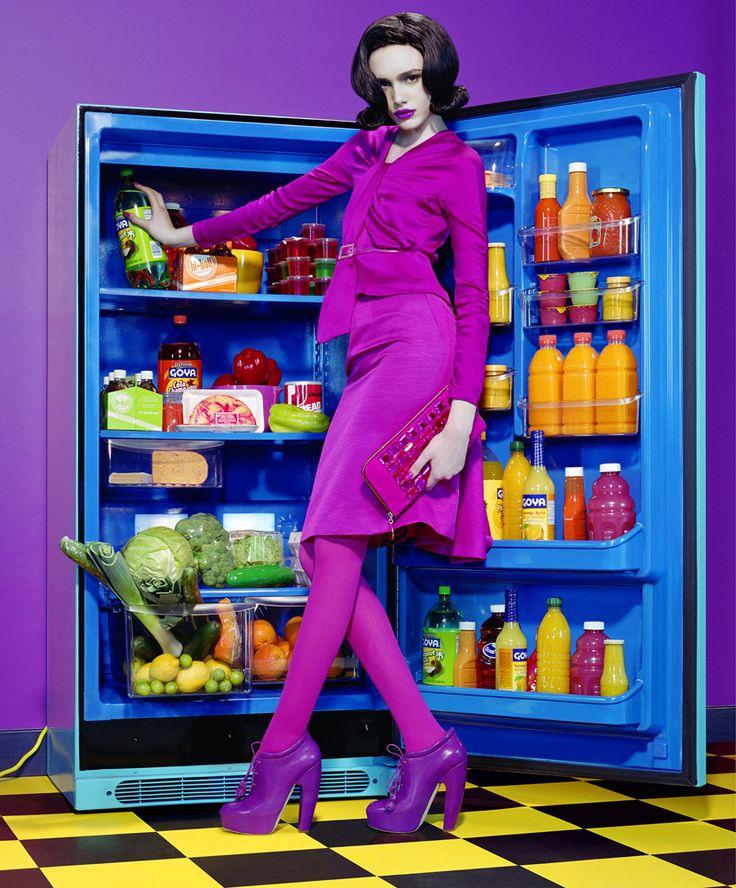 NYT Magazine  January,2007 Model: Georgie Frost. Photographer: Miles Aldridge.  Editorial:Pop Wife. 1