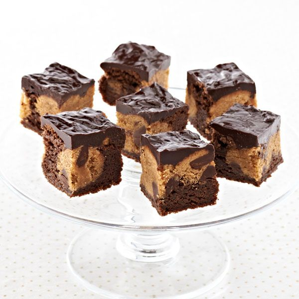 Peanut Butter Brownie Bites Recipe  This is just one of a series of small bite recipes that will make you a big hit this holiday from Ghirardelli.