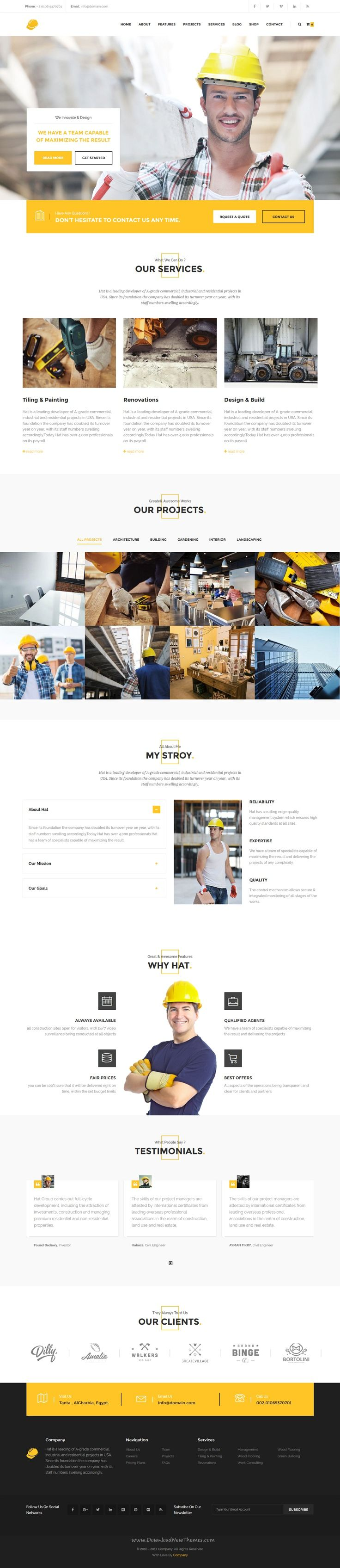 Yellow Hats is modern and unique premium 11 in 1 #Drupal Theme for #Construction, Building & Renovation #service website download now➯ https://themeforest.net/item/yellow-hats-construction-building-renovation-drupal-theme/16918875?ref=Datasata