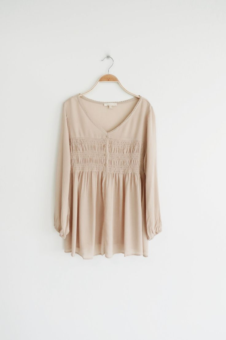 neutral blouse | ROOLEE