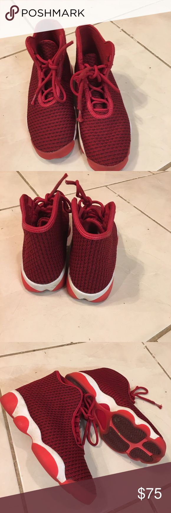 Jordan Horizon GS Gym Red/White-Team Red-Infrared Rarely worn. (823583-601) Release dates 01/13/2016  02/25/16 Jordan Shoes Sneakers