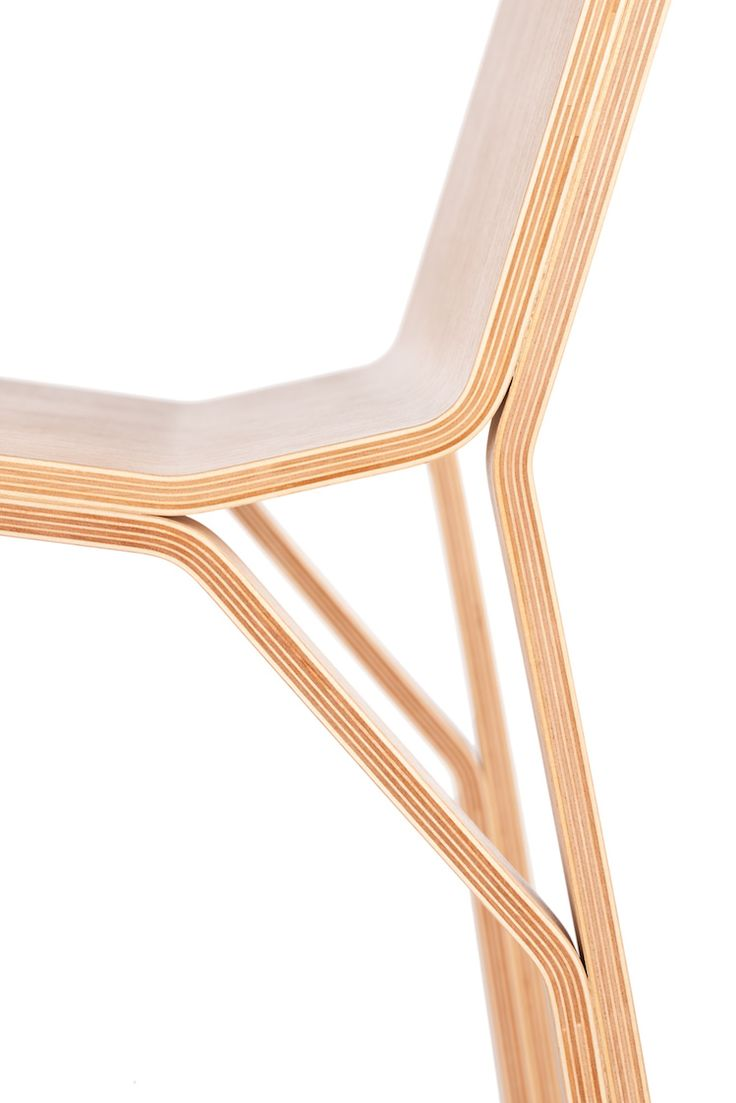 Trimo is innovative chair in terms of a structural logic. Inspiration comes from architectural construction element - truss, often used in metal structures of bridges and shelters. Diagonal supports reduces loads to bearing elements, therefore they can be thin and light.Perfect for modern interior!   For trade enquiries and pricing, please email info@iwoodlike.co.uk