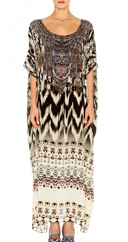 ROUND NECK KAFTAN CALL OF THE WILD by Camilla