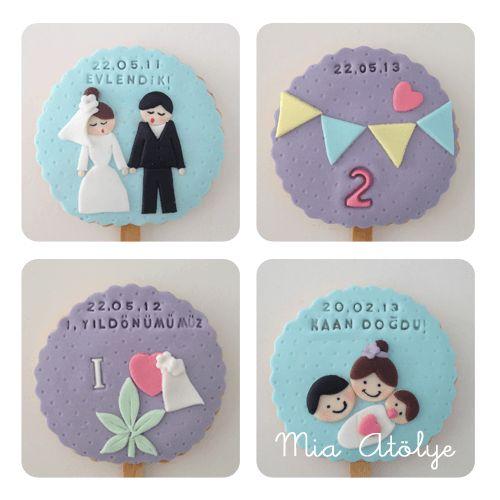Evlilik yıldönümü kurabiyeleri