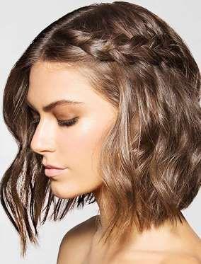 Tranças e outros penteados para cabelos curtos e médios.
