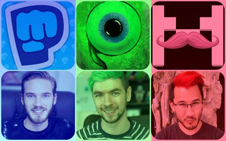 Pewdiepie, Jacksepticeye and Markiplier Collage by britishchick09 on DeviantArt