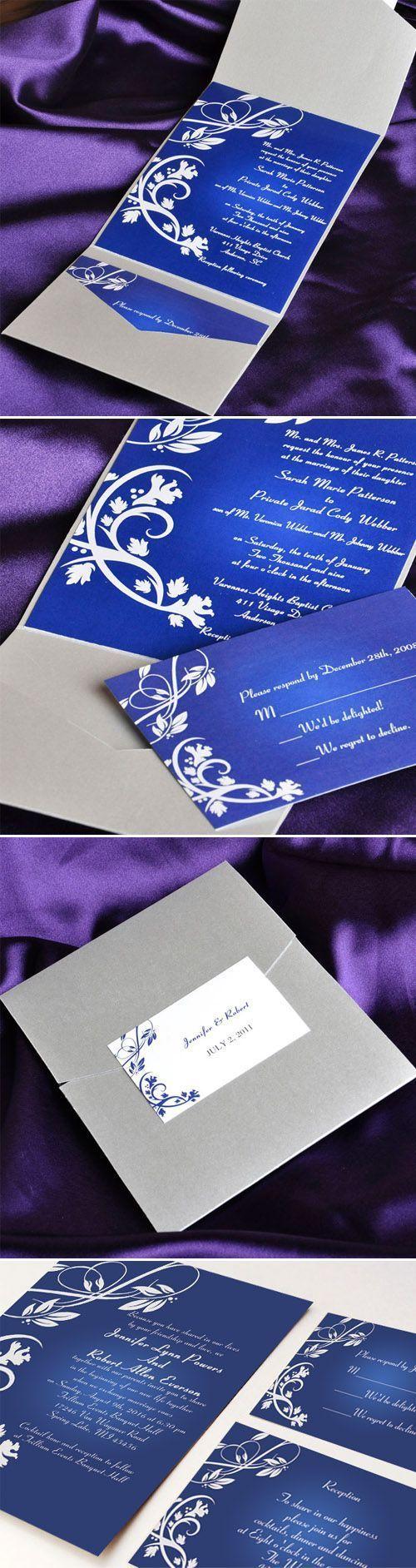 royal blue and grey pocket elegant wedding