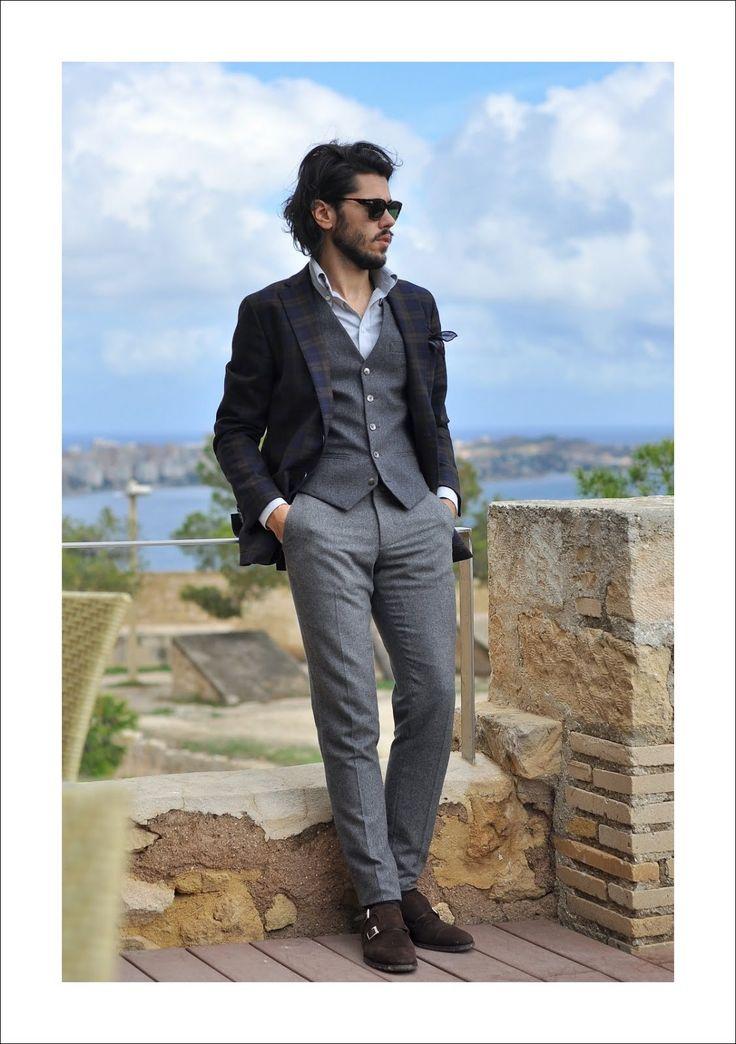 Szarość, krata i wiatr w przerwie na kawę: Outdersen - Męska moda i styl