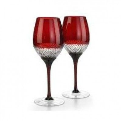 Waterford Crystal Red Lume Red Wine Pair. Available on http://www.standun.com/waterford-crystal-red-lume-red-wine-pair.html