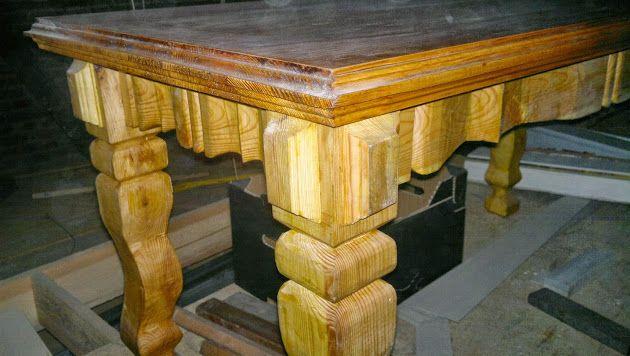 Zdjęcie na okładkę Ręcznie wykonany stolik. Kreuje mój indywidualny styl i wyczucie piękna formy...