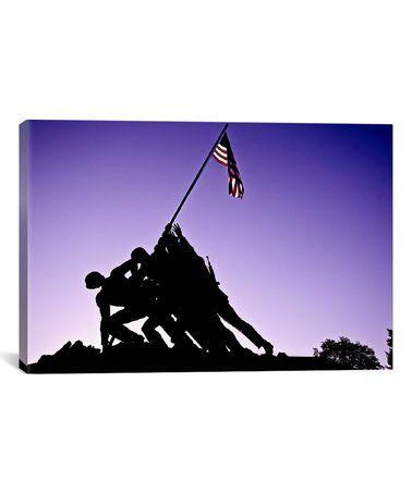 Love this World War II Iwo Jima Memorial Wrapped Canvas on #zulily! #zulilyfinds