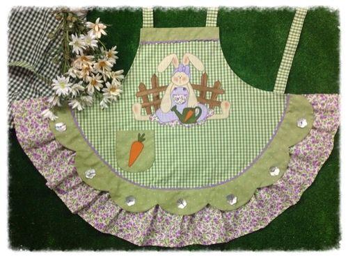 Cartamodelli primavera 2013 : Cartamodello grembiule con coniglio