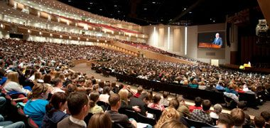 Each Tuesday devotionals or lectures are presented in the BYU-Idaho center.