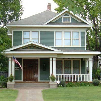 Best 25 foursquare house ideas on pinterest craftsman for Classic house colours