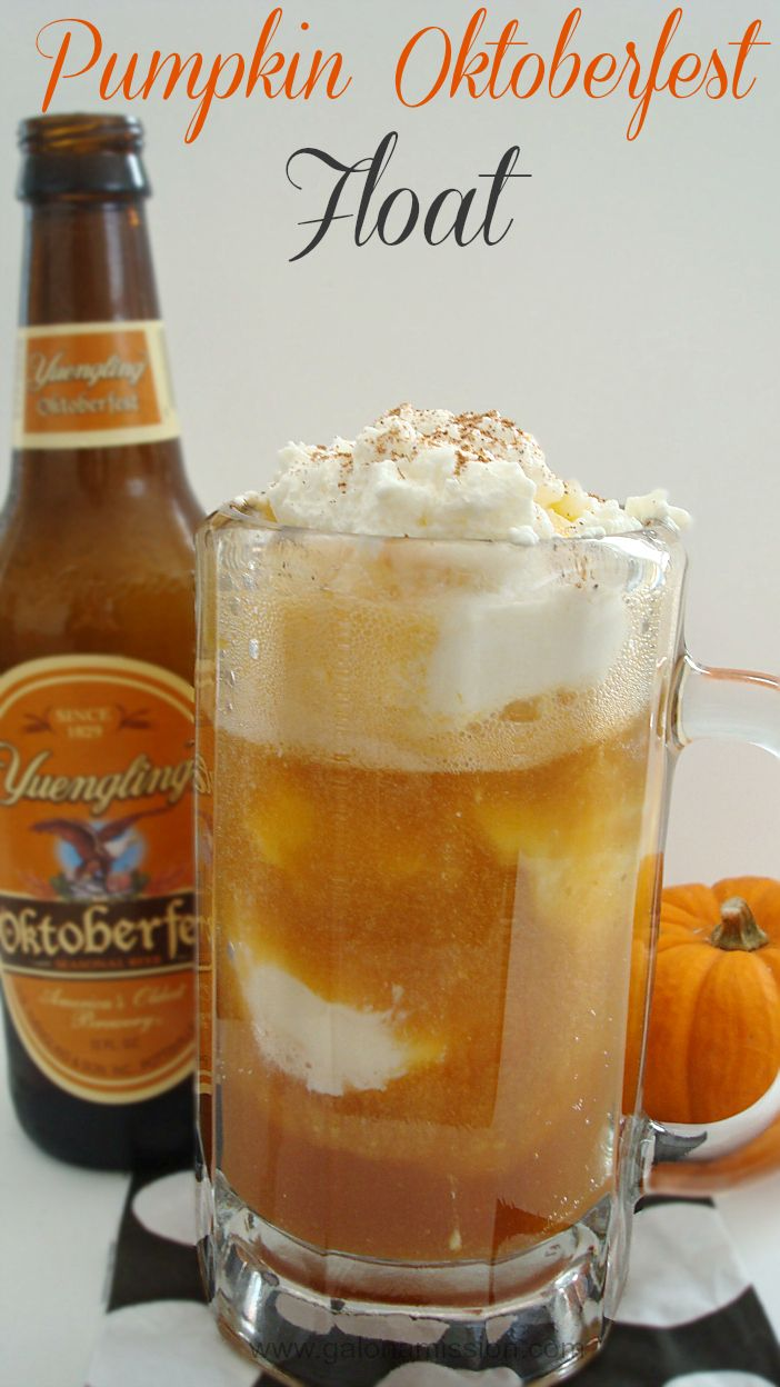 Pumpkin Oktoberfest Float {Spiked}