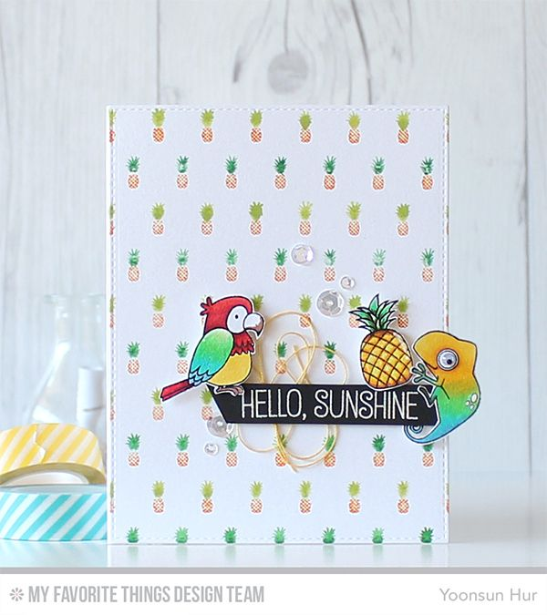 RejoicingCrafts: Day 4 of MFT August Release Countdown. Pineapple Background Stamp. #mftstamps