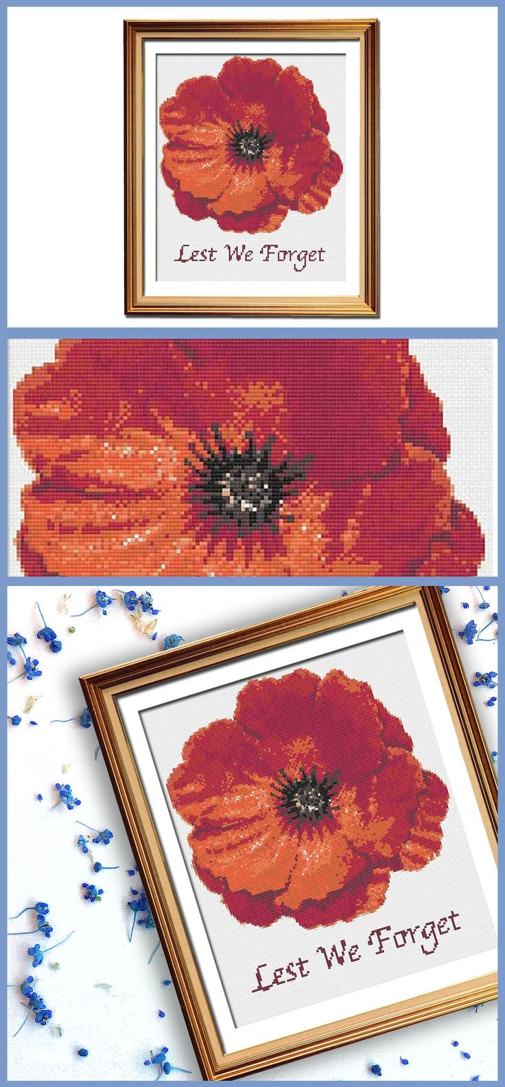 The prettiest military cross stitch pattern.