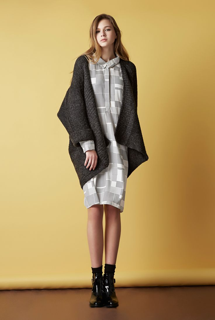 Phoebe dress & Daria oversize cardigan