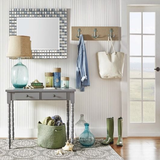 Anchor hooks for your entryway...  http://www.completely-coastal.com/2017/06/coastal-entryway-designs-from-wayfair.html Coastal and nautical theme entryway design ideas.