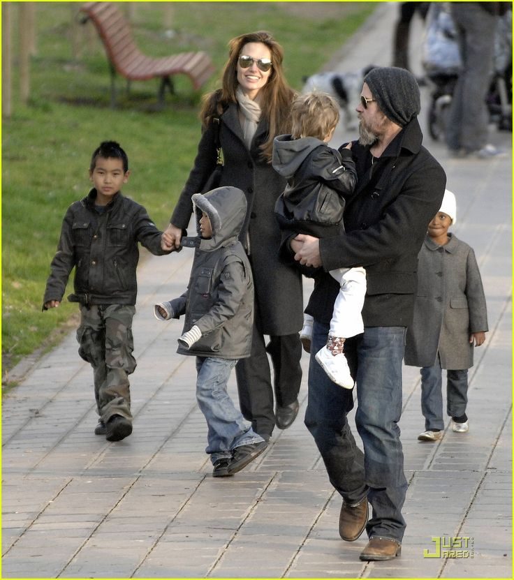 the older kids, Maddox, Pax, Shiloh, Zahara
