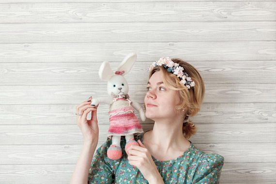 This cute amigurumi #bunny is made of special yarn. The bunny plush cute will be the most interesting #gift for a child or an adult. Each plush cute gift is unique, it is cut... #etsy #crochet #animal #knit #toy #handmade #rabbit