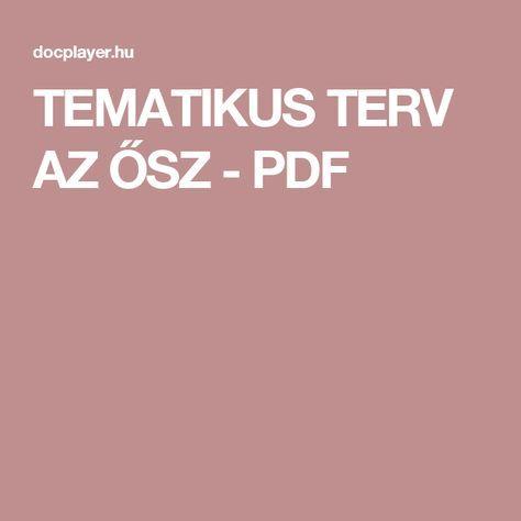 TEMATIKUS TERV AZ ŐSZ - PDF
