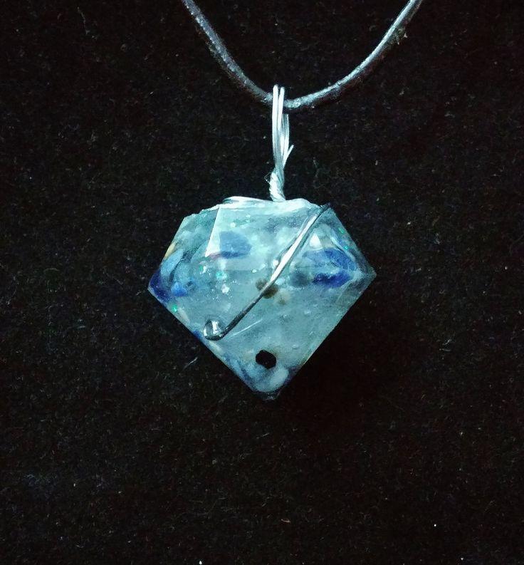Sodalite Crystals in Resin Pendulum/ Pendant by KomacFineArt on Etsy