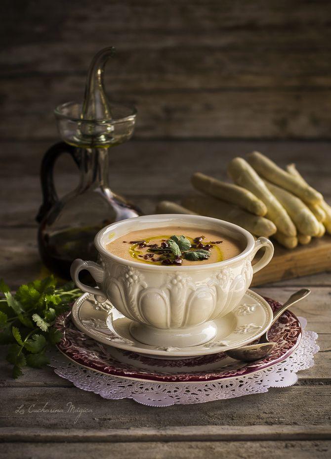 Gazpacho de espárrago blanco | La Cucharina Mágica