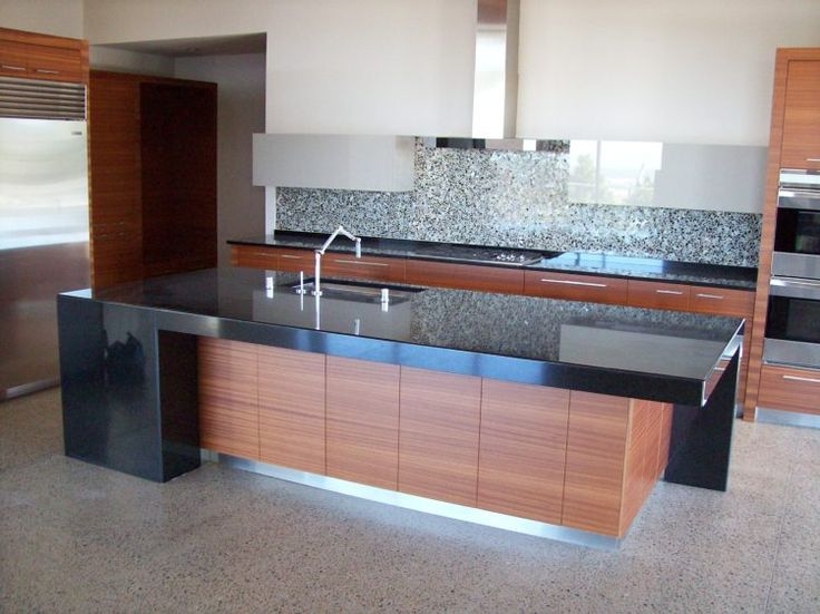 20 Modern Kitchen Designs With Black Countertops