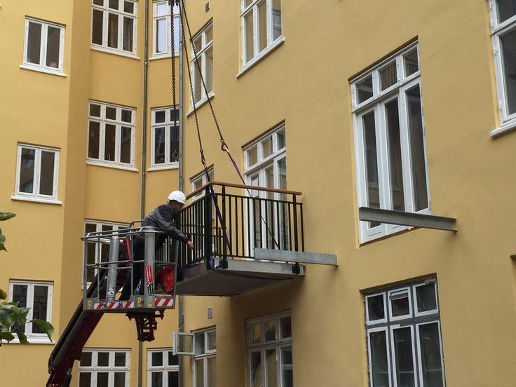 Montering af altan