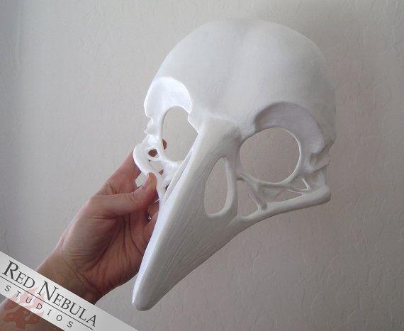 Raven Skull Mask Blank, Crow Skull Masque, Corvid Skull Face Mask, Realistic…