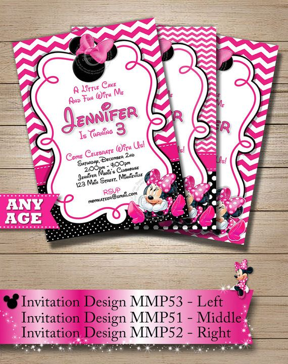 75 best pink chevron minnie mouse birthday party invitations party huge selection pink chevron minnie mouse invitation polka dot minnie mouse printable invitation 2nd 3rd 4th 5th 6th birthday invitation filmwisefo
