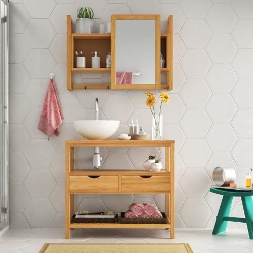 Gabinete Para Banheiro Com Espelheira - Submarino.com