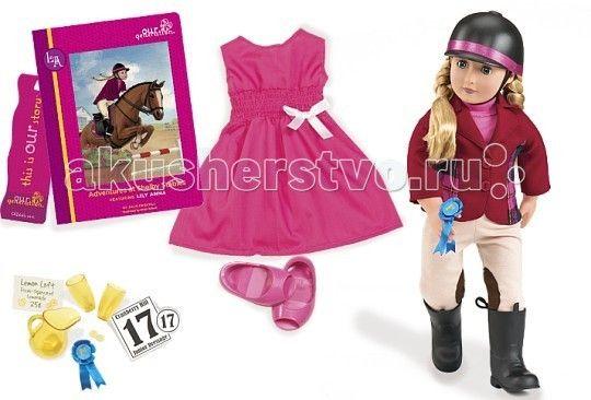 Our Generation Dolls Кукла делюкс 46 см Лили Анна и Приключения на конюшнях Шелби  Our Generation Dolls Кукла делюкс 46 см Лили Анна и Приключения на конюшнях Шелби обладательница пышных светлых волос и сияющих голубых глаз.  Её ручки и ножки способны гнуться и сгибаться, что позволяет переодевать её наряды, подбирая самый красивый. В данном конкретном комплекте находится одежда для верховой езды, что понятно по названию набора. Итак, среди вещей Вы найдёте шлем, пиджак, футболку с…