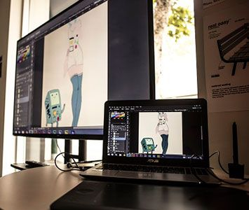 Working hard in on of our Animation suites at JMC Academy! www.jmcacademy.edu.au