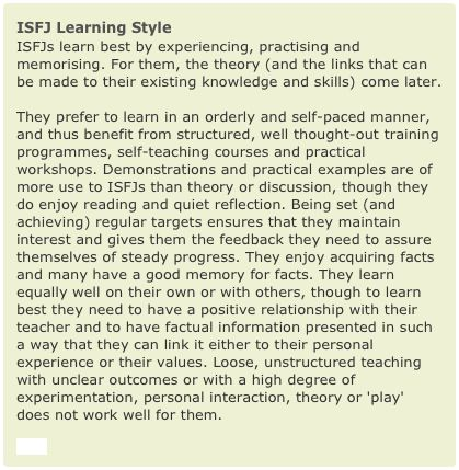 learning styles and personality types essay Learning styles and personality types shows the process of communication and collaboration among different people it is important to see the different learning styles, you should also learn a strategitie to communicate and collaborate among them to reach what your goal maybe.