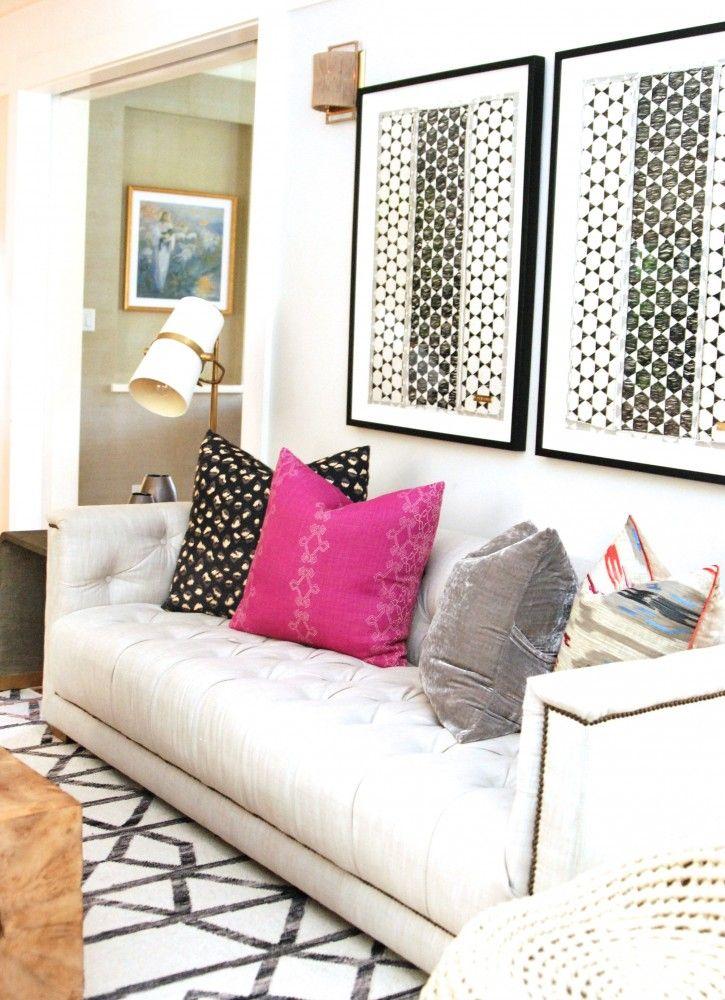 BECKI OWENS- Menlo Park. Eclectic Bohemian living room. Collab with Nicole Davis.