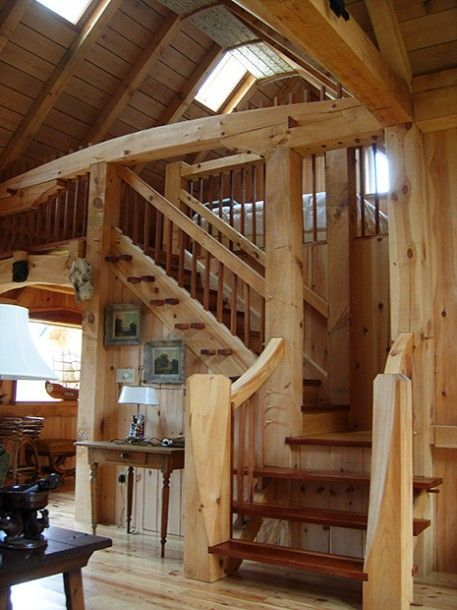 58 Best Timber Frame Stairs Images On Pinterest